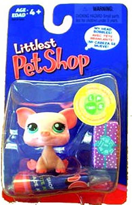 Amazon.com: Littlest Pet Shop Pink Pig #361 with Purple ...