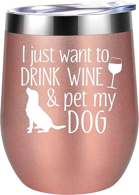 Wine Glass for dog lovers Gift For Dog Mom Dog Mom Insulated Tumbler Dog Mom Tumbler Fur Mama Wine Tumbler