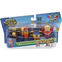 Alpha Group Co., Ltd Wings Transform-a-Bots 4 speelfiguren Build-IT JETT/Build-IT Donnie/Scoop/Todd, EU720040E, gemengd