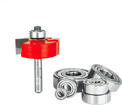 "1//4 Inch Shank Rabbet Router Bit With 7 Bearings Set1//8/', 5//16/"" 3//8/"" 1//2/'"