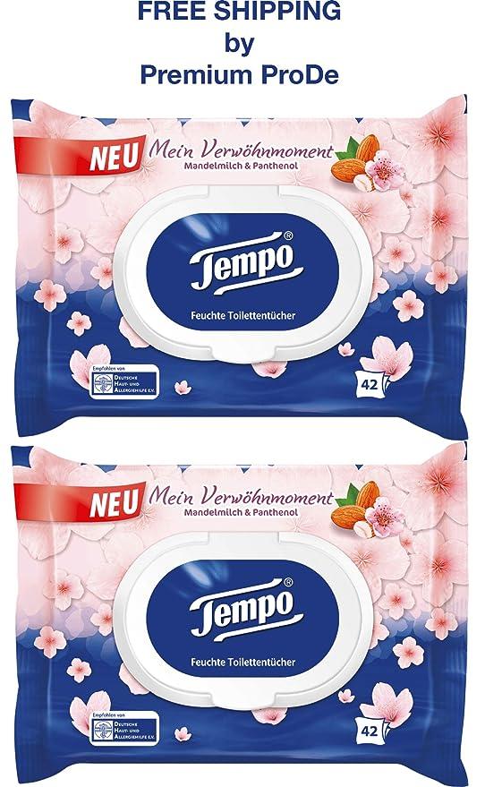 Tempo 84 Toallas - Papel higiénico húmedo, leche de almendra y ...