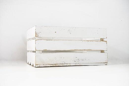 Caja de Madera de Fruta Blanco Vintage Sam, Cajas Tipo Fruta ...