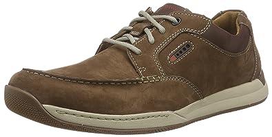 ClarksJavery Time - Zapatos Derby Hombre, Color Marrón, Talla 44