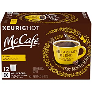 McCafé Breakfast Blend Light Roast K-Cup Coffee Pods (12 Pods)