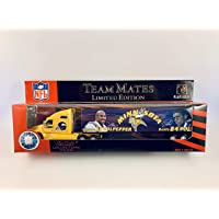 $24 » 2001 Fleer Collectibles NFL Team Mates 1:80 Scale Diecast Tractor Trailer - MINNESOTA VIKINGS Daunte Culpepper and Randy Moss