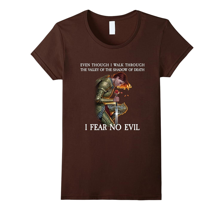 Mens Fear Evil Shirt Black-Awarplus