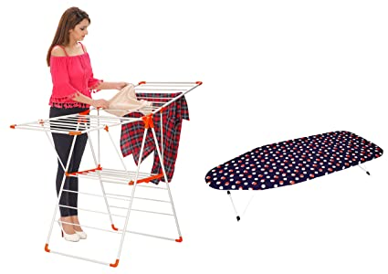 Charmant Magna Homewares® ROBUSTO Plus Cloth Drying Stand With Free Table Top Iron  Board