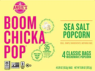 product image for Angie's BOOMCHICKAPOP Sea Salt Microwave Popcorn Fresh-Pop Bowls, 13.16 Ounce, Pack of 6