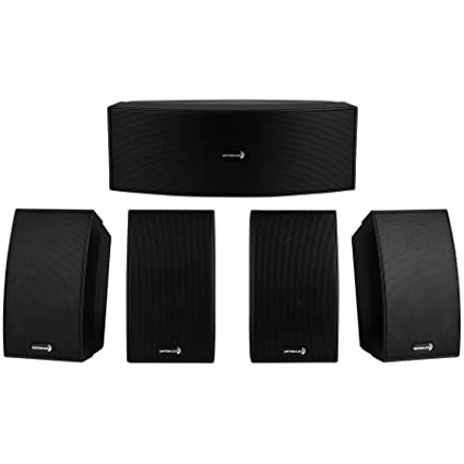 Dayton Audio HTS-1200B Home Theater Speaker System (Black)