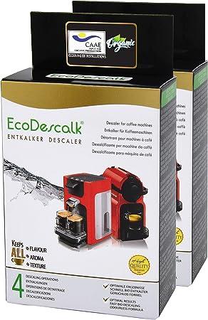 EcoDescalk Ecológico en Polvo, 2x4 Sobres. Descalcificador 100% Natural. Limpiador para Cafeteras. Todas Las Marcas. 8 Descalcificaciones. Producto CE.: Amazon.es: Hogar