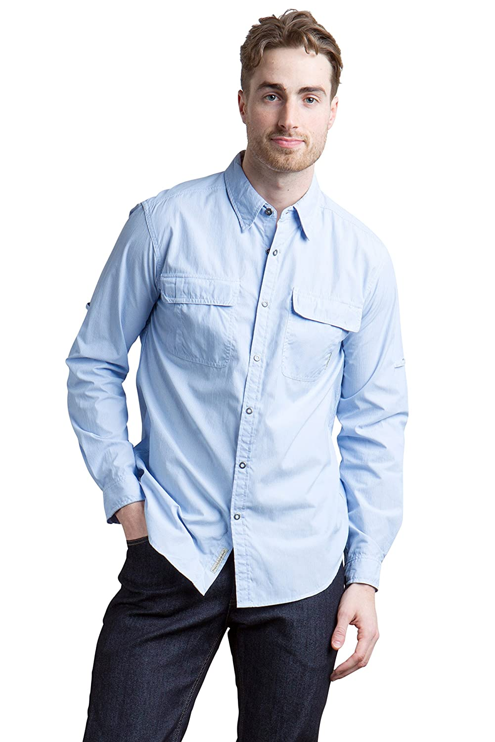ExOfficio Herren Bugs Away Halo Stripe Long Sleeve Shirt