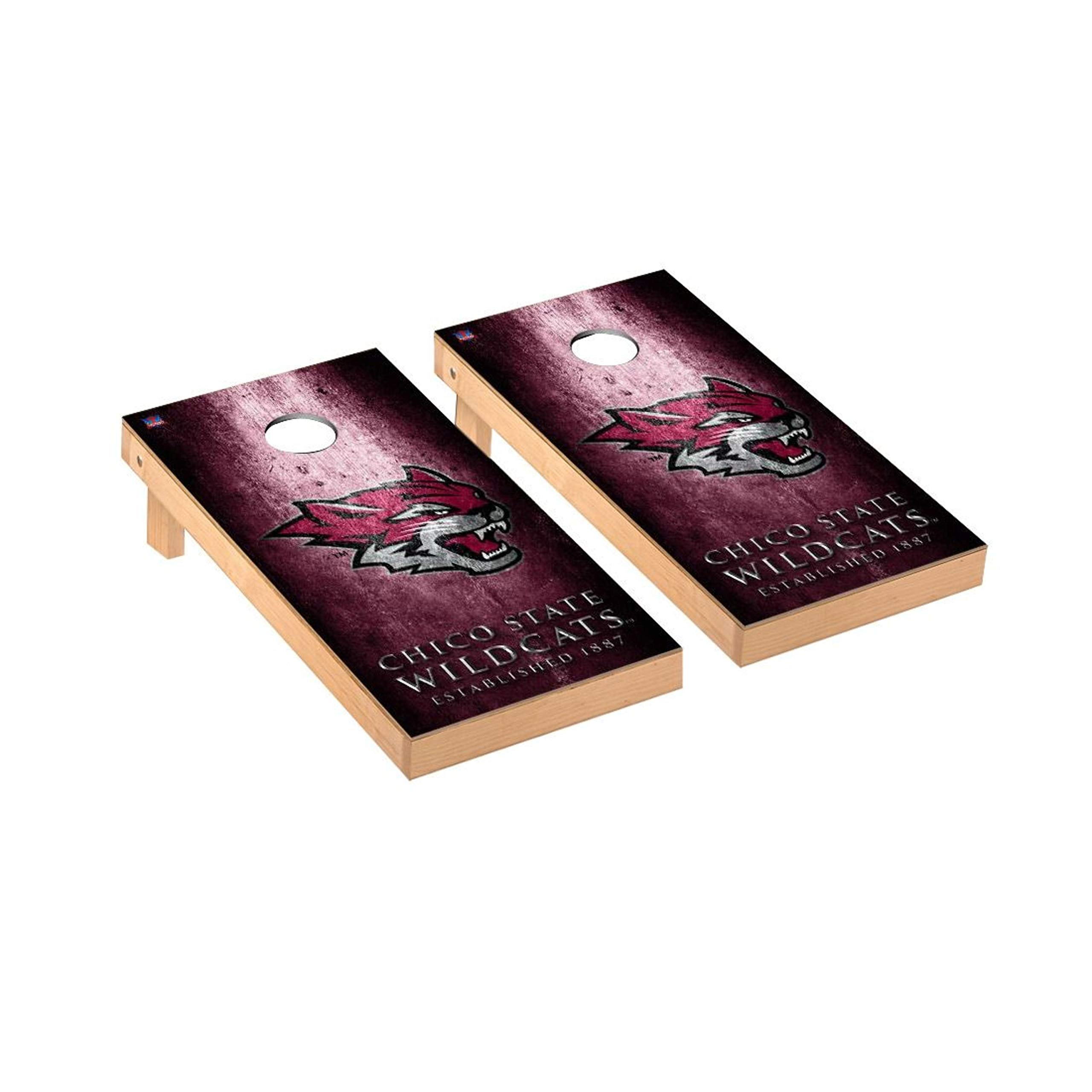 Victory Tailgate Regulation Collegiate NCAA Museum Series Cornhole Board Set - 2 Boards, 8 Bags - Chico State Wildcats by Victory Tailgate