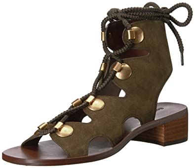 67594fdcc See by Chloe Women's EDNA LACE-UP Gladiator Sandal kaki 36.5 M EU (6.5