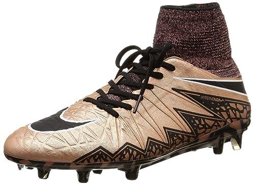 genuine shoes how to buy discount Nike Men's Hypervenom Phantom II FG Metallic Red Bronze/Green Glow/Black  Shoes