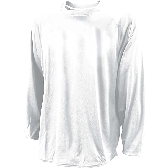 78db8032 Russell Dri-Power Long Sleeve Raglan Mens - White Large: Amazon.in ...