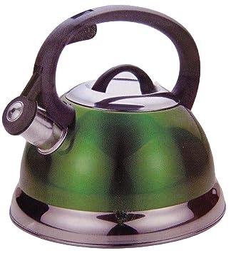 Amazon.com: Kitchenworks 2.5 Qt Whistling Tea Kettle in Green ...