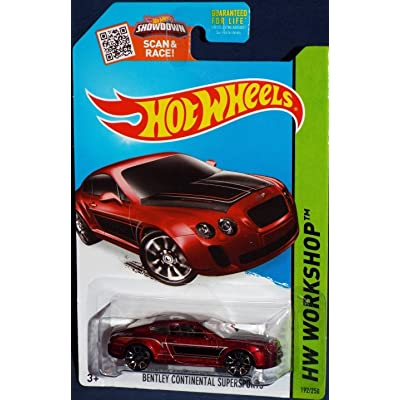 Hot Wheels 2015 Hw Workshop 192/250 - Bentley Continental Supersports [Red]: Toys & Games