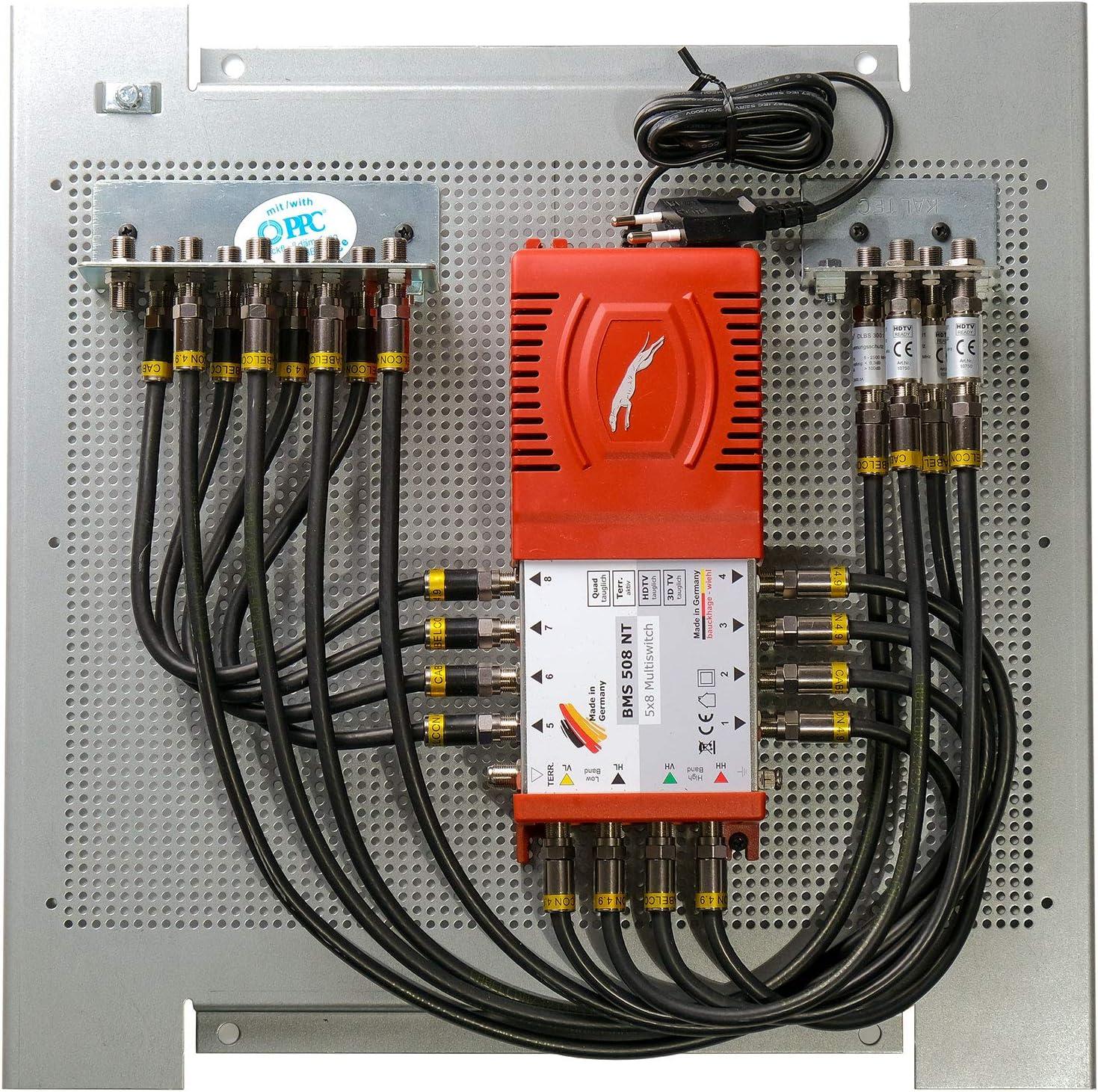 Multischalterpanel 5 8 Xmediasat Mp Bms508 Für 8 Teilnehmer Vormontiert Mit Potentialausgleich Und Überspannungsschutz Baumarkt