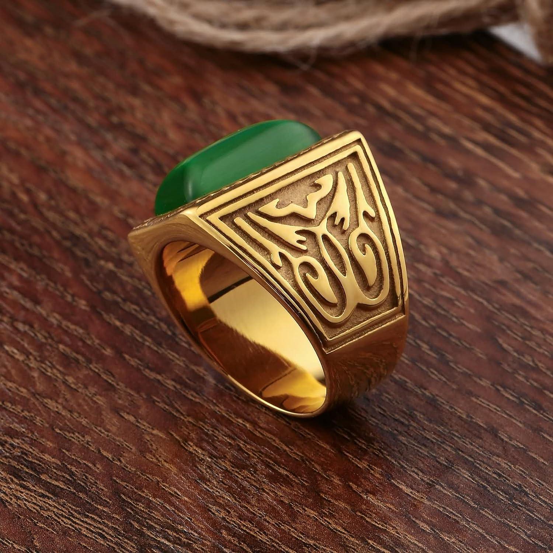 AMDXD Mens Stainless Steel Wedding Ring Totem Cubic Zirconia Rings
