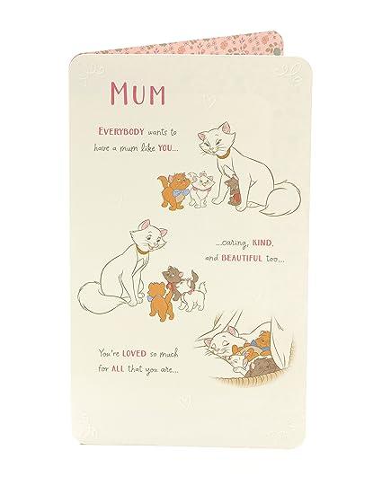 Amazon Disney Aristocats Marie Mum Birthday Card Office Products