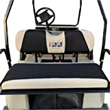"10L0L Golf Cart Universal Back Seat Covers for EZGO Club Car Yamaha Washable Breathable Air Mesh Cloth (37.5"" 13.5"" 3.7"") X-S"