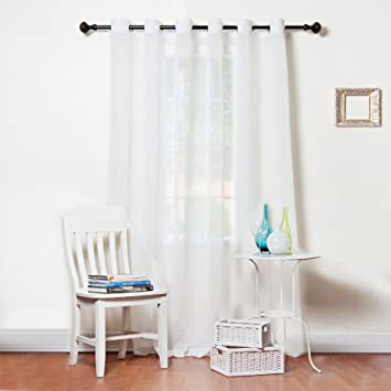 Sheer Curtains 96 sheer curtains : Amazon.com: Best Home Fashion Wide Width Crushed Voile Sheer ...