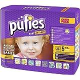 Pufies Baby Art Dry Cameras - 64 Pañales, talla 5, 11-20 kg