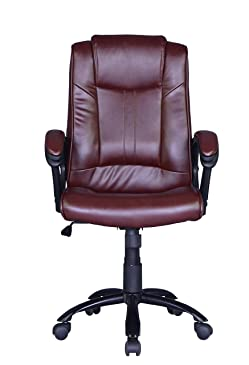 Brown Ergonomic Leather Office Executive Chair Computer Hydraulic O2824R