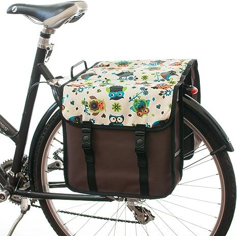 beluko® Fashion doble alforjas de bicicleta ciclo bici Mujer ...