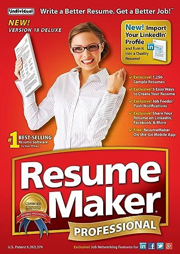 Amazon.com: ResumeMaker Professional Deluxe 18 [Download]: Software
