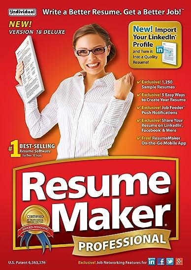 amazoncom resumemaker professional deluxe 18 - Resume Maker Professional