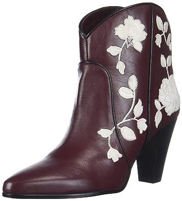 e0cc5927f3eac Amazon.com   Kate Spade New York Women's Dalton Ankle Boot, Burgundy Calf,  8.5 M US   Ankle & Bootie