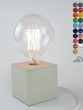 Home Designerlampe aus Beton, Nachttisch-Leuchte, Schreibtisch-Lampe ...