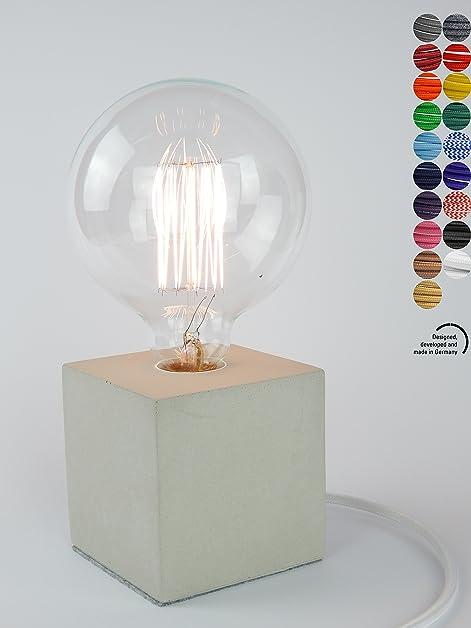 home designerlampe aus beton nachttisch leuchte schreibtisch lampe oder fr den boden - Kchen Mit Weien Schrnken Und Dunklen Bden