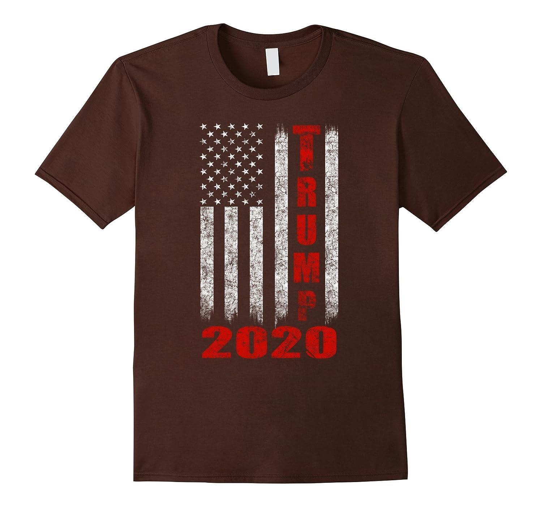 American Flag Vintage Design Trump 2020 T-shirt-anz