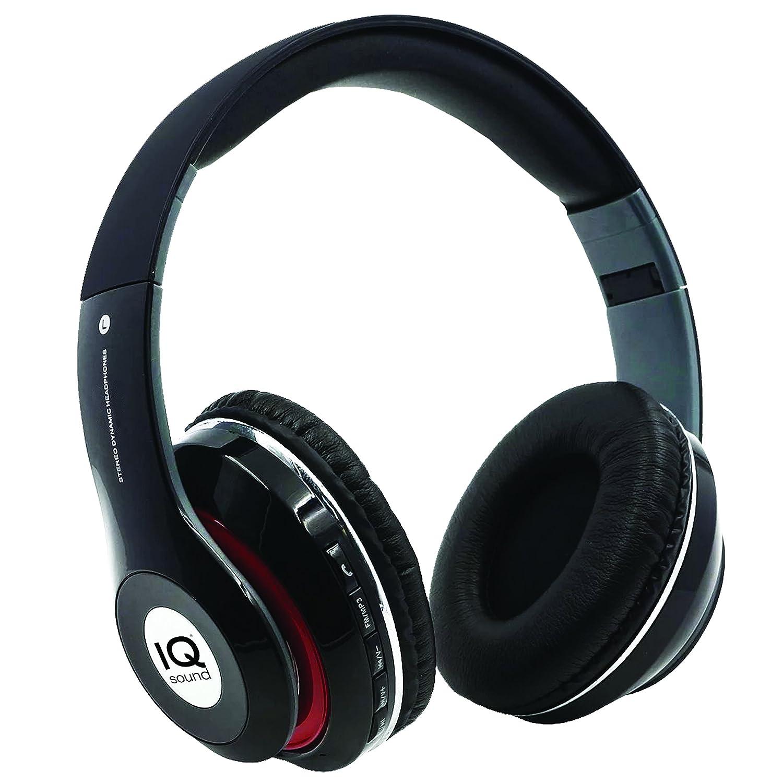 SuperSonic Wireless Headphones and Mic Headphone, Black