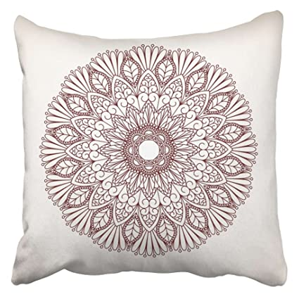 Amazon Emvency Decorative Throw Pillow Covers Cases Henna New How To Stitch Pillow Cover In Hindi