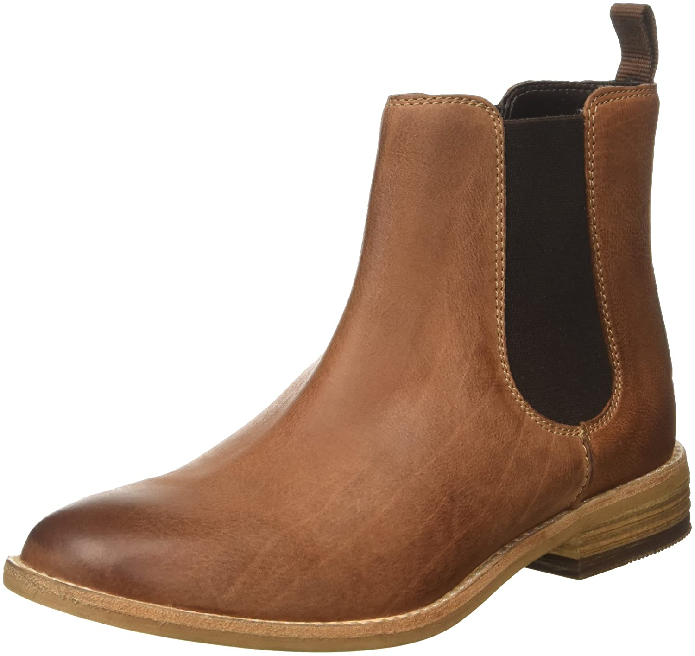 bc97f898 Clarks Maypearl Nala - Dark Tan Leather (Brown) Womens Boots 10 US ...