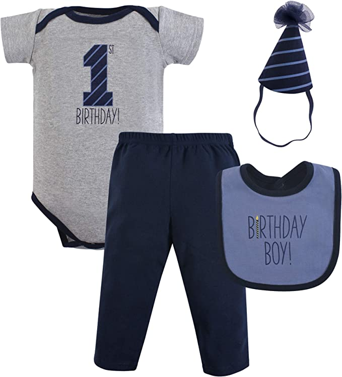 8-Piece Hello Ladies Hudson Baby Boy Grow With Me Clothing Gift Set