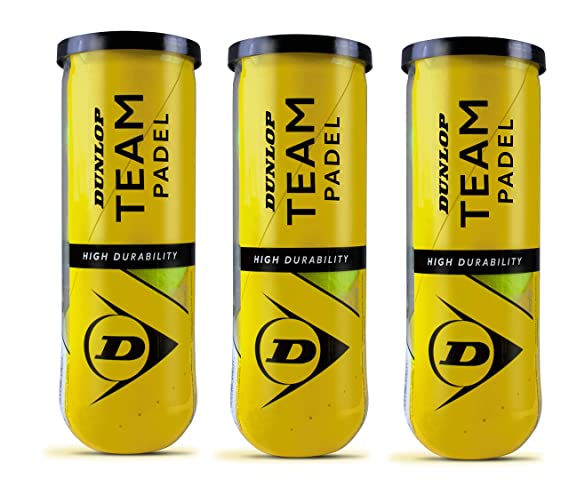 Dunlop team padel pack 3 Botes (9 pelotas): Amazon.es: Deportes y ...