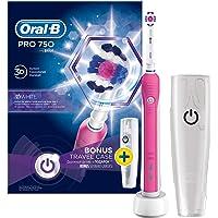 Oral-B Pro 750 Cross Action Şarj Edilebilir Diş Fırçası, Pembe