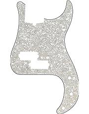Fender 992176000 Modern Pickguard, Precision Bass, 13-Hole, White Moto
