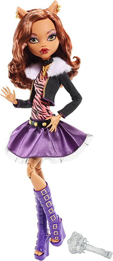 Amazon Com Monster High Frightfully Tall Ghouls Clawdeen Wolf Doll Toys Games