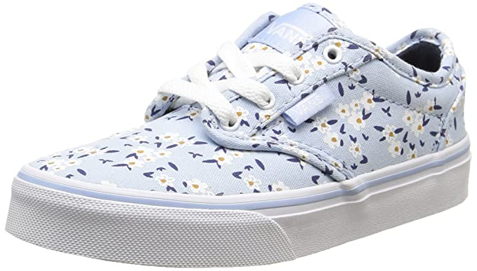 aec0f6b7af Amazon.com  Vans Atwood Youth Sneakers - Floral Light Blue White ...