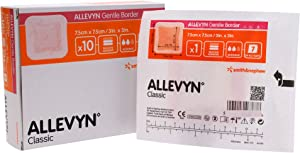 "Allevyn Smith and Nephew 66800276 Gentle Border Dressing 3"" x 3"" - Box of 10"