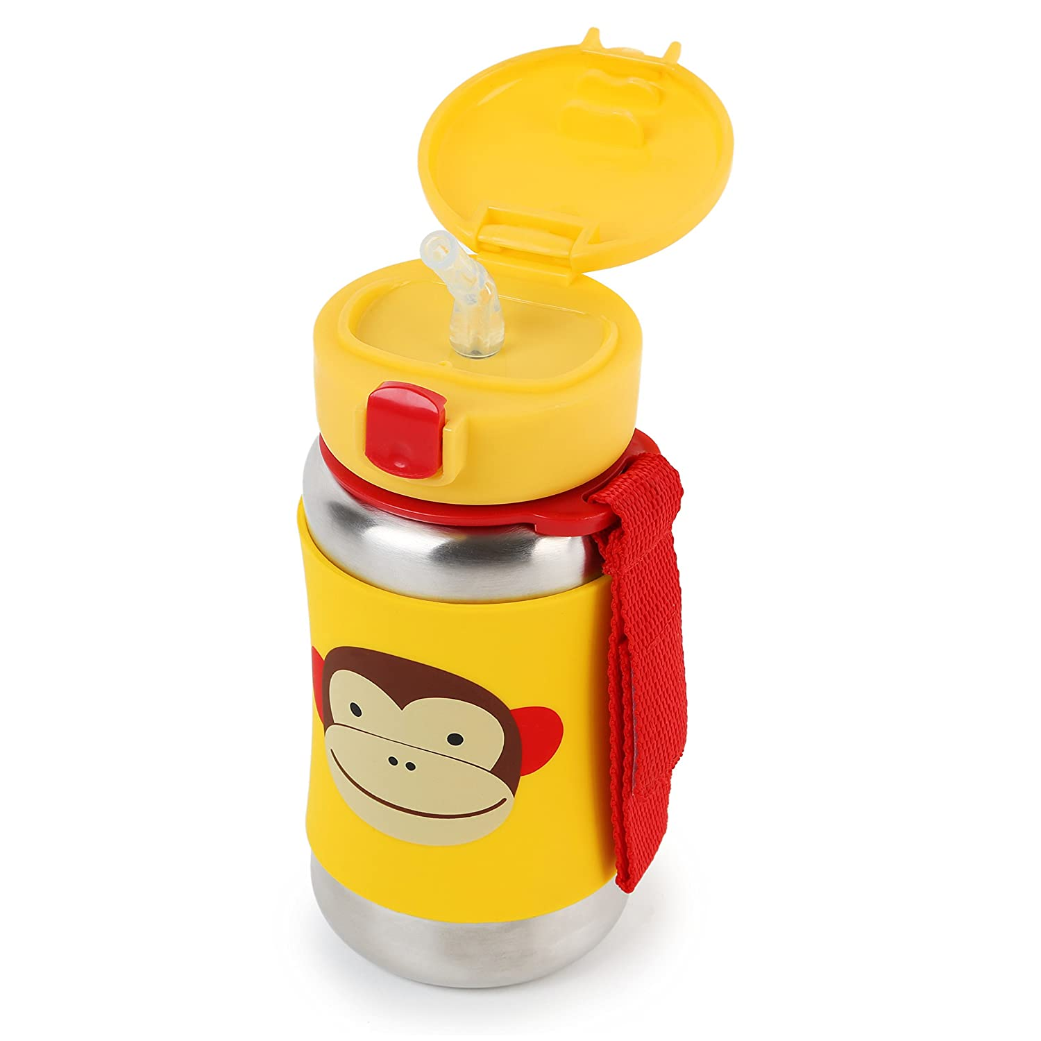 Skip Hop Zoo Stainless Steel Straw Bottle Monkey Baby Tommee Tippee Insulated Sippee Cup 12m Yellow Bee