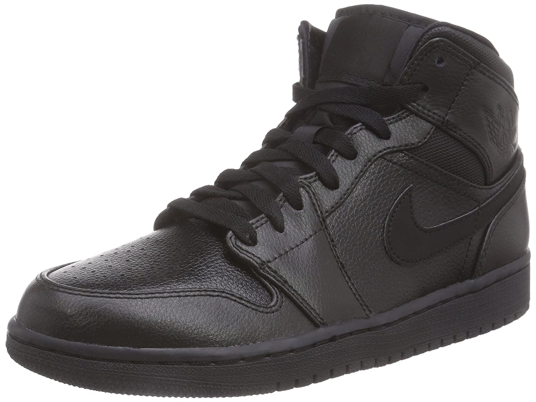 NIKE Air Jordan 1 Mid Mens Basketball Shoes 554724-030 Black Black 10 M US B00TACNXV2 Parent
