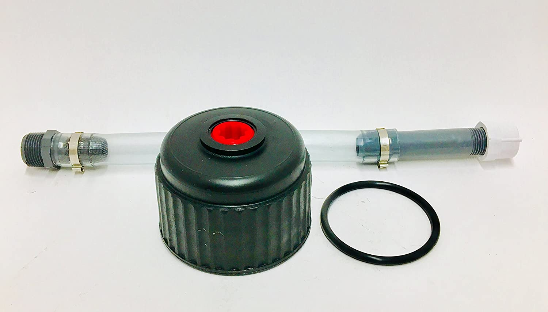 VP Racing Fuels Filler Hose and Cap Kit w/Heintz Sales Replacement Viton O-Ring for Jug Cap