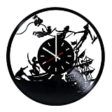 Peter Pan Vinyl Record Wall Clock - Home Room