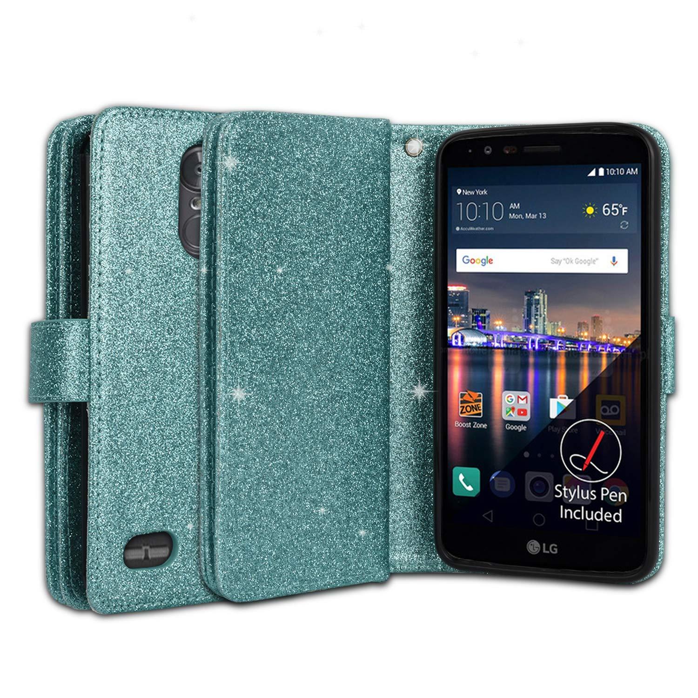 Ymhxcy LG Stylo 3 Wallet Case, LG Stylo 3 Plus Case,LG Stylus 3 Case,PU Leather [9 Card Slots][Detachable][Kickstand] Phone Case & Wrist Lanyard LG LS777-PT Mint by Ymhxcy (Image #4)